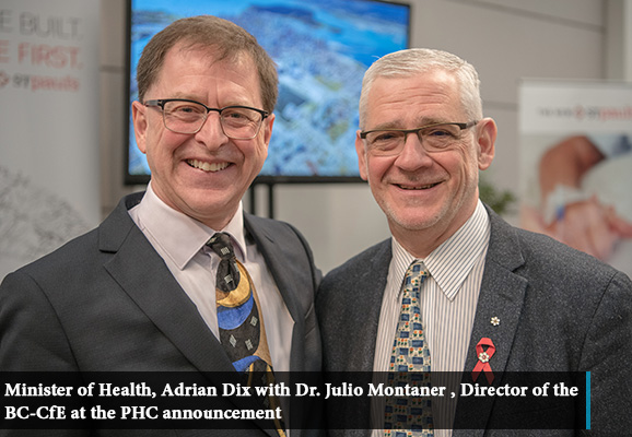 MoH Adrian Dix with Dr. Julio Montaner