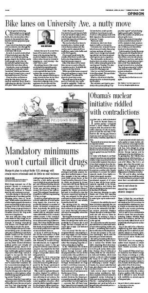 Toronto Star - Mandatory minimums won't curtail illicit drugs