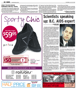 The Province - Scientists speaking up: B.C. AIDS expert