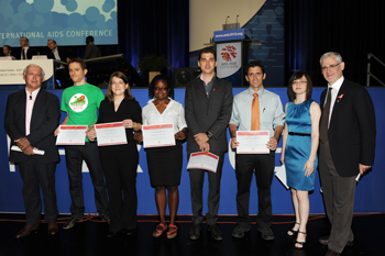 Dr. Julio Montaner and IAS/ANRS Young Investigator Award recipients