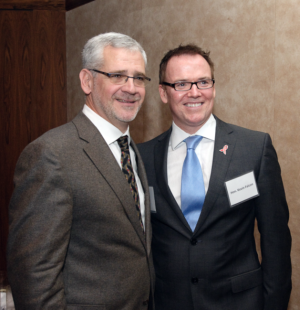 Julio Montaner and Kevin Falcon